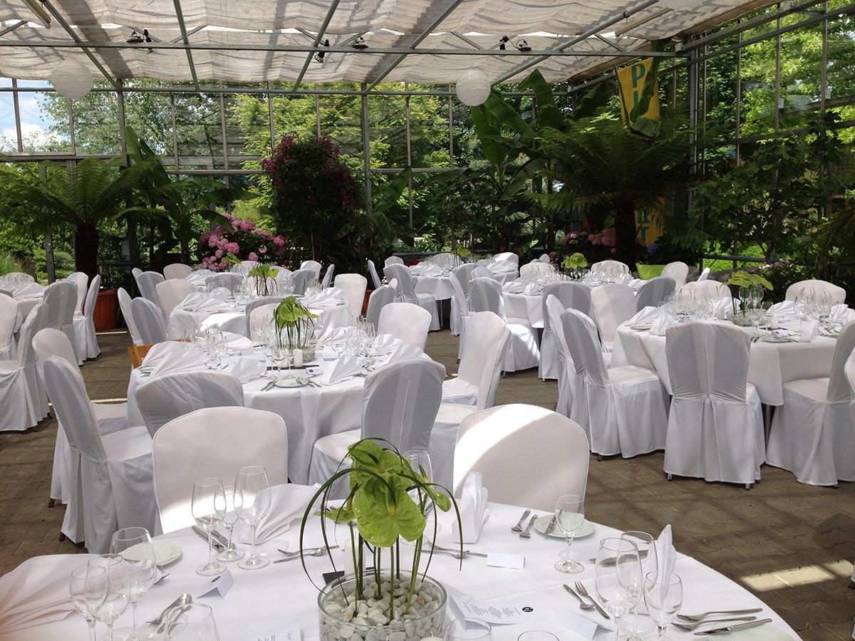 Plangarten runde Tische