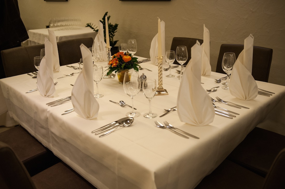 gedeckter Tisch in den Ratsstuben Leinfelden-Echterdingen