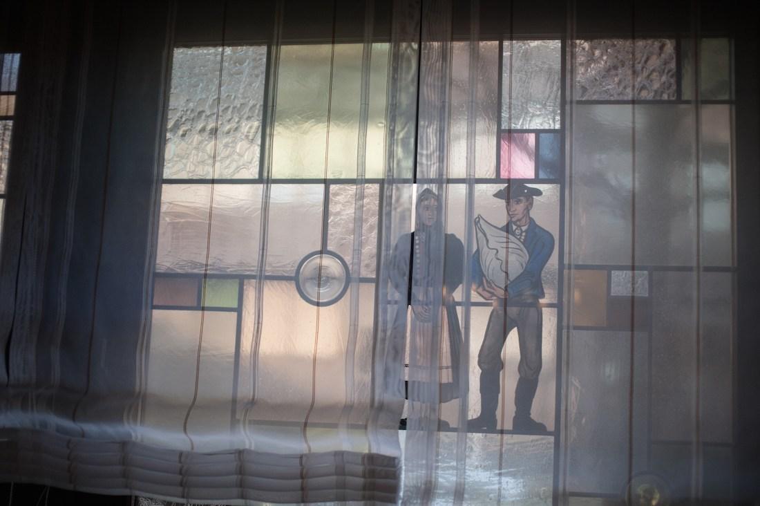 Fensterbemalung in den Ratsstuben Stuttgart