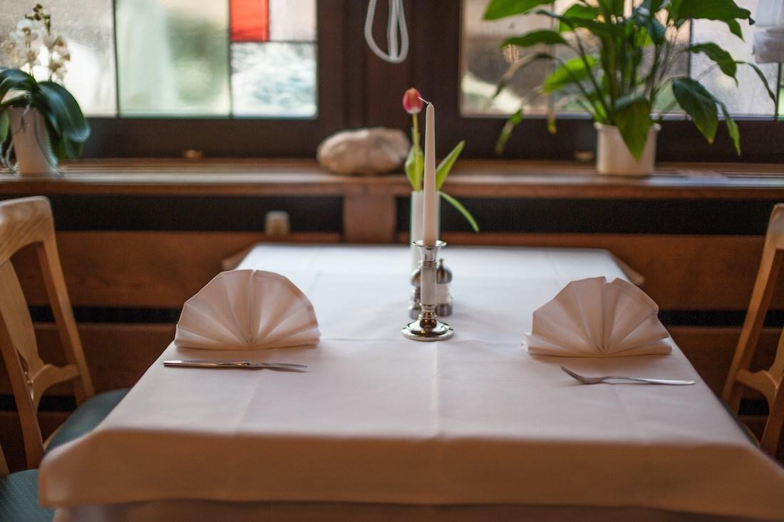 Tisch für zwei Personen