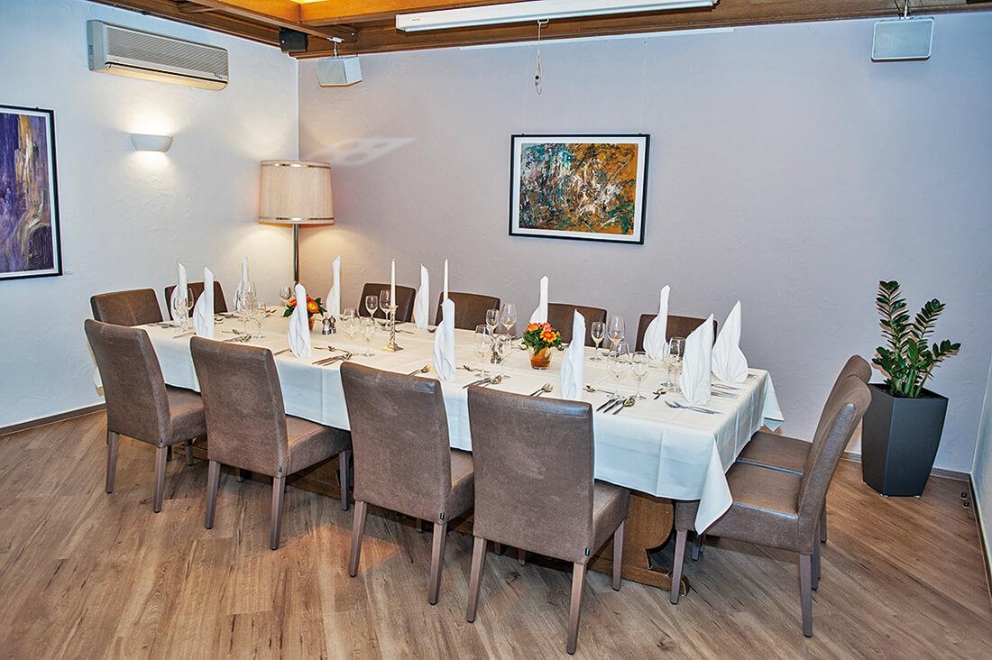 Restaurant Ratsstuben - festlich gedeckter Tisch